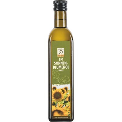 Grosspackung natürlich für uns Bio Sonnenblumenöl nativ 6 x  500 ml = 3 Liter