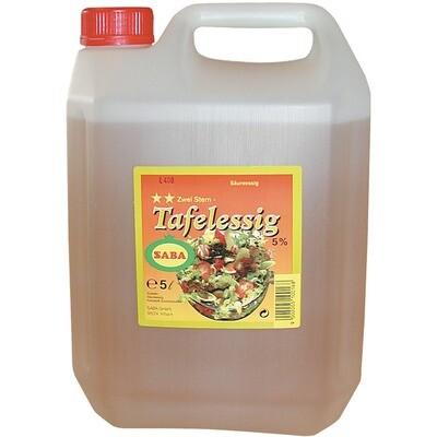 Grosspackung Saba Tafelessig 5% 5 Liter
