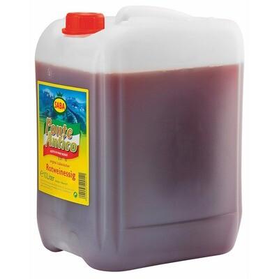 Grosspackung Saba Italienischer Weinessig rot 6% 10 Liter
