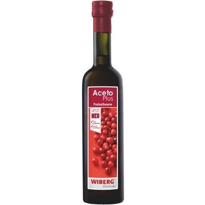 Grosspackung Wiberg Aceto Plus Preiselbeere 3 x 500 ml = 1.5 Liter