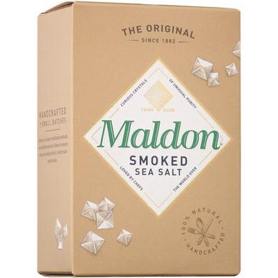 Grosspackung Maldon Meersalzflocken geräuchert 12 x 125 g = 1.5 kg
