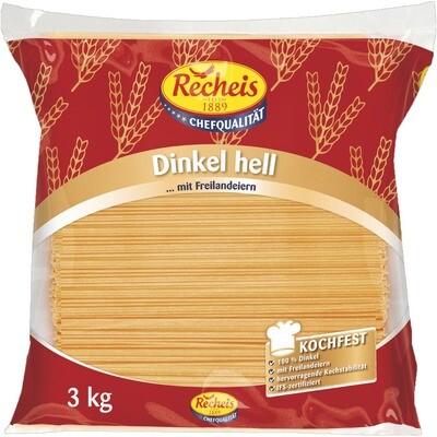 Grosspackung Recheis Dinkel hell Spaghetti 3 kg Pasta, Nudeln