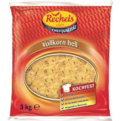 Grosspackung Recheis Vollkorn Nudeln hell Fleckerl 3 kg