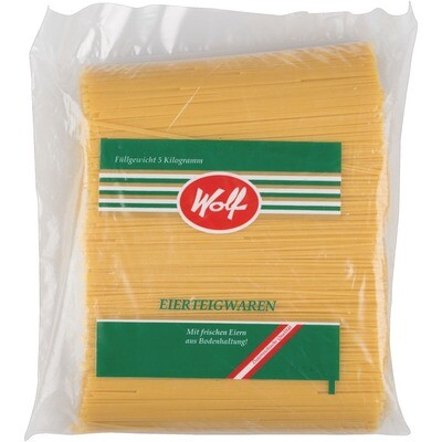 Grosspackung Wolf 2 Ei Spaghetti kurz 5 kg