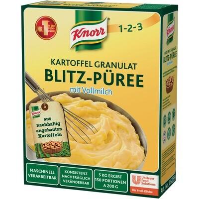 Grosspackung Knorr Kartoffel-Granulat Blitz-Püree mit Vollmilch 5 kg