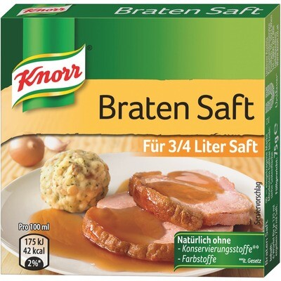 Grosspackung Knorr Bratensaft Würfel 12 x 75 g = 0,9 kg