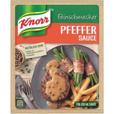 Grosspackung Knorr Feinschmecker Pfeffer Sauce 15 x 38g = 0,57 kg