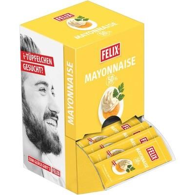 Grosspackung Felix Mayonnaise Portionen 50% Fett 100 x 18 g = 1,8 kg