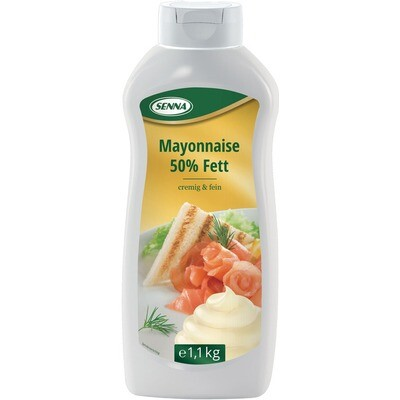Grosspackung Senna Mayonnaise 50% Fett 8 x 1,2 kg = 9,6 kg