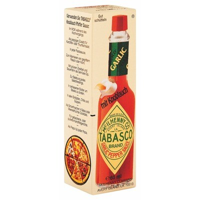 Grosspackung Tabasco Sauce Knoblauch 12 x 60 ml = 0,72 Liter
