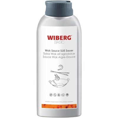 Grosspackung Wiberg Basic Wok Sauce Süss Sauer 3 x 800 g = 2,4 kg