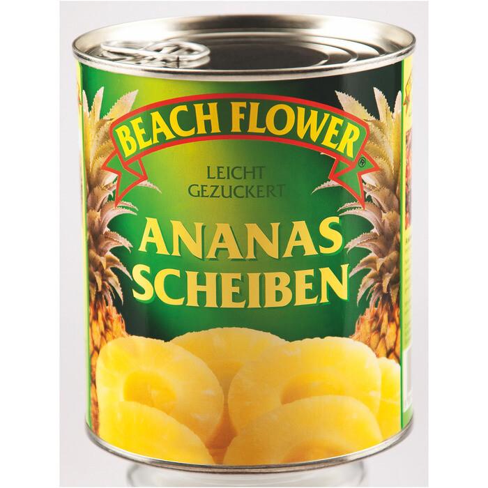 Grosspackung Beach Flower Ananasscheiben 850 ml 6 x 0.49 kg = 2.94 kg