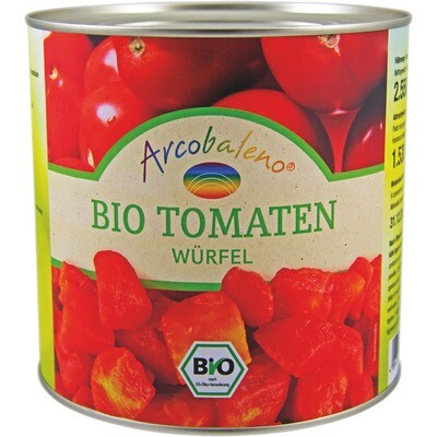 Grosspackung Bio Tomaten gewürfelt 6 x 2,5 kg = 15 kg