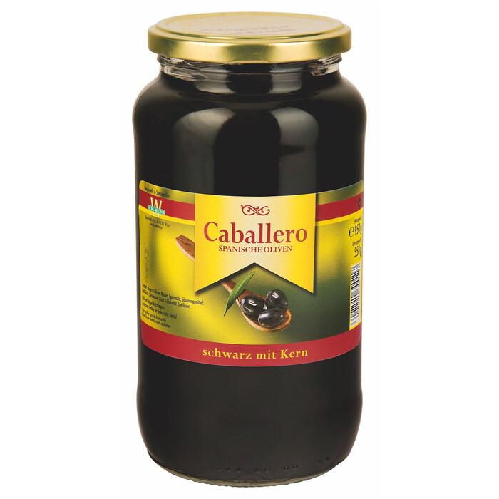 Grosspackung Caballero Oliven schwarz 340/360 mit Kern 6 x 935 g