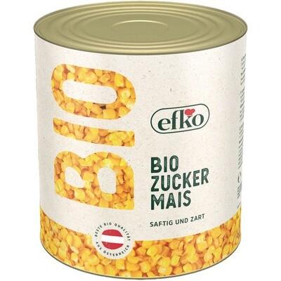 Grosspackung Efko Bio Zuckermais 1,55 kg