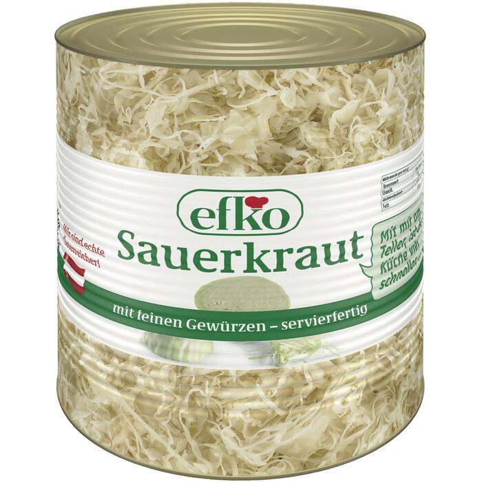 Grosspackung Efko Sauerkraut Dose 10 Liter