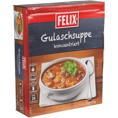 Grosspackung Felix Gulaschsuppe 2-fach konzentriert 2 x 1,5 kg