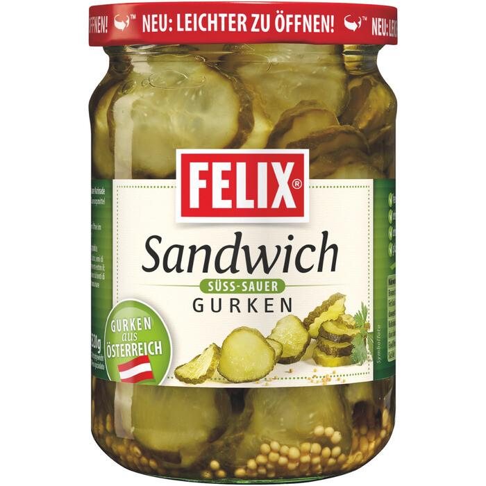 Grosspackung Felix Sandwichgurken classic 12 x 580 ml