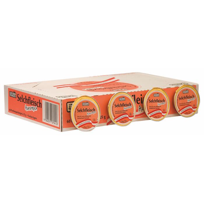 Grosspackung Ham Selchfleisch Aufstrich 60x25 g= 1,5 kg