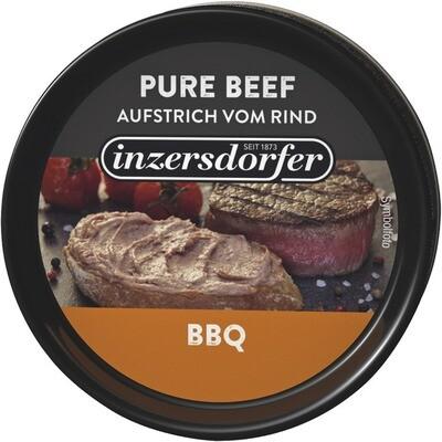 Grosspackung Inzersdorfer Aufstrich Pure Beef BBQ 16 x 80 g = 1,28 kg