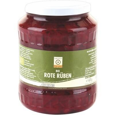 Grosspackung natürlich für uns Bio Rote Rüben 7 Beete / Randen 6 x 670 ml