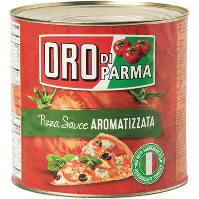 Grosspackung Oro di Parma Pizzasauce Aromatizzata gewürzt 3 x 2650 ml
