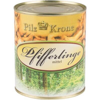 Grosspackung Pilzkrone Pfifferlinge mittel 6 x 850 ml