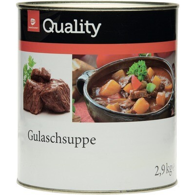 Grosspackung Quality Gulaschsuppe 2,9 kg