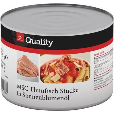 Grosspackung Quality Thunfisch / Thon Chunks in Öl MSc 1880 g