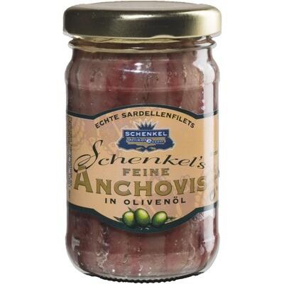 Grosspackung Schenkel Anchovis / Sardellen in Olivenöl 12 x 105 g