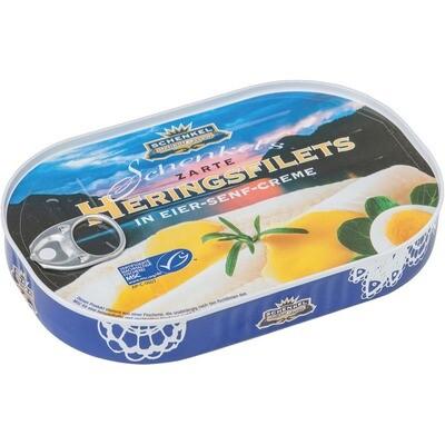 Grosspackung Schenkel Heringsfilet Eier Senf Sauce 10 x 200 g = 2 kg
