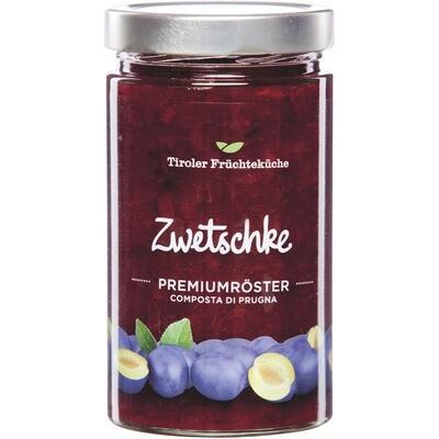 Grosspackung Tiroler Früchteküche Zwetschkenröster im Glas 6 x 720 g = 4,32 kg Zwetschgen