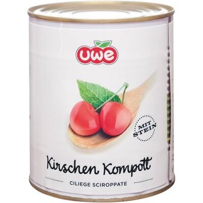 Grosspackung Uwe Kirschen Kompott hell 6 x 850 ml