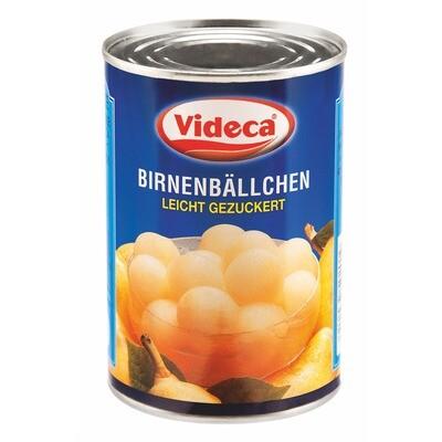 Grosspackung Videca Birnenbällchen (6 x 425 ml)