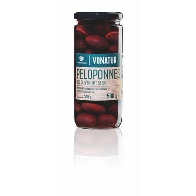Grosspackung Vonatur Bio Kalamata Oliven mit Kern 12 x 500 g