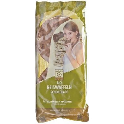 Grosspackung natürlich für uns Bio Reiswaffeln Schoko 12 x 100 g = 1,2 kg
