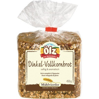 Grosspackung Ölz Mühlviertler Dinkel Vollkornbrot 15 x 450 g = 6,75 kg