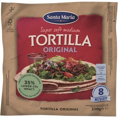 Grosspackung Santa Maria Original Tortilla 12 x (20 cm 8 Stk. 320 g)