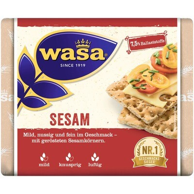 Grosspackung Wasa Knäckebrot Sesam 12 x 200 g = 2,4 kg