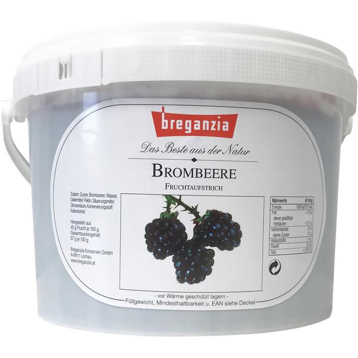 Grosspackung D'arbo Fruchtaufsrich / Konfitüre Brombeere Johannisbeere Cassis 45% Fruchtanteil 5 kg