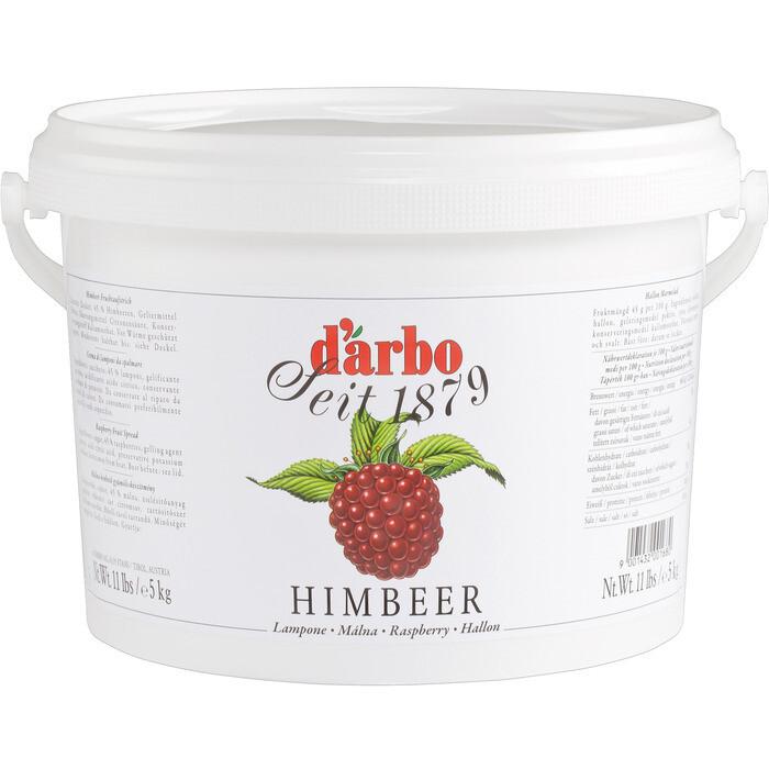 Grosspackung D'arbo Fruchtaufstrich / Konfitüre Himbeer 45% Fruchtanteil 5 kg