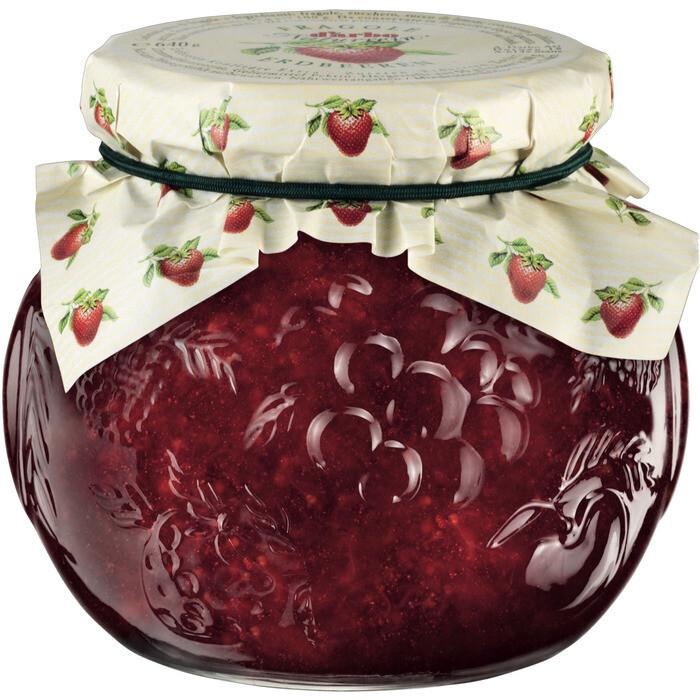 Grosspackung D'arbo Konfitüre / Fruchtaufstrich Naturrein Erdbeer 55% Fruchtanteil 6 x 640 g = 3,84 kg