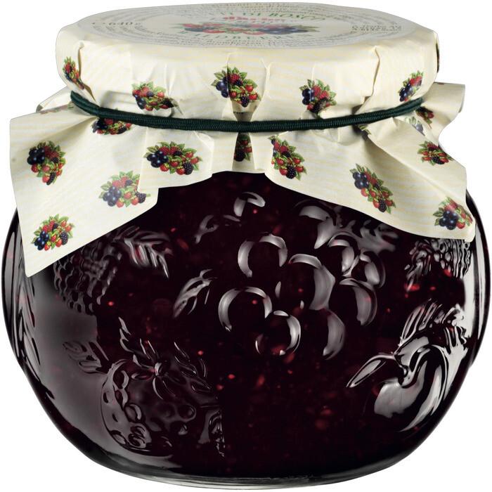 Grosspackung D'arbo Naturrein Konfitüre / Fruchtaufstrich Waldbeere 55% Fruchtanteil 6 x 640 g = 3,84 kg