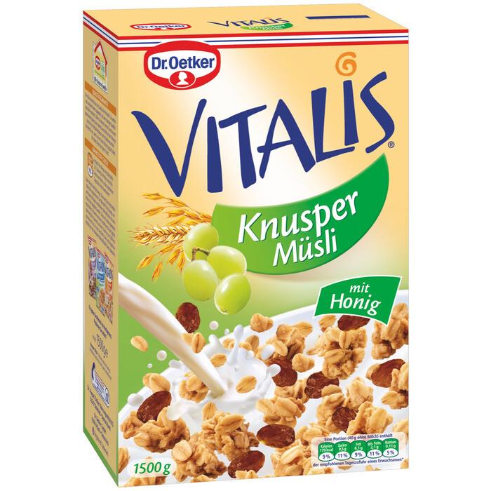 Grosspackung Dr. Oetker Vitalis Knusper Müesli 4 x 1,5 kg = 6 kg