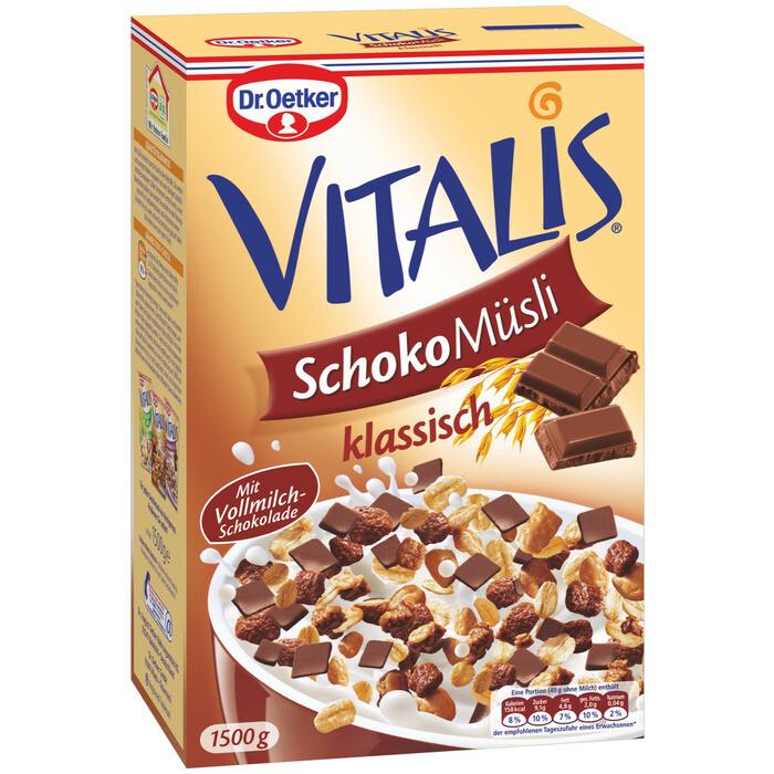Grosspackung Dr. Oetker Vitalis Müesli Schoko 4 x 1,5 kg = 6 kg