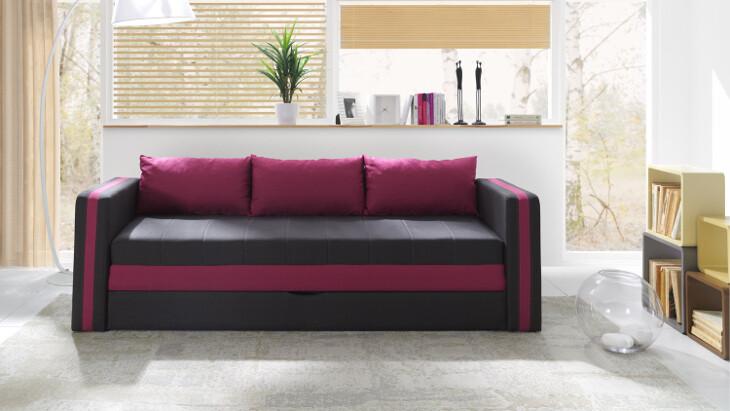 Sofa ausziehbar EUFORIA rosa