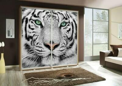 Schiebetürenschrank / Kleiderschrank mit Schiebetür PENELOPA 205cm Motiv: Tiger