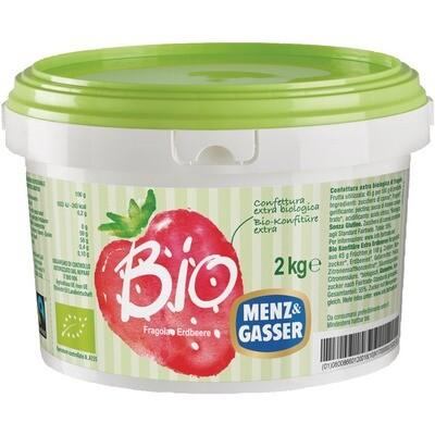 Grosspackung Menz&Gasser Bio Konfitüre Erdbeer 2 kg
