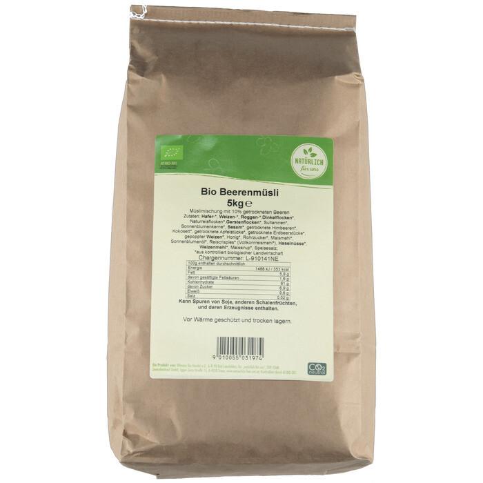 Grosspackung natürlich für uns Bio Beerenmüesli 5 kg