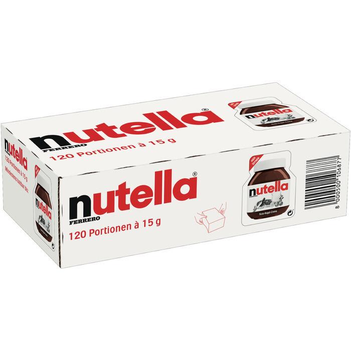 Grosspackung Nutella Portionen 120 x 15 g = 1,8 kg